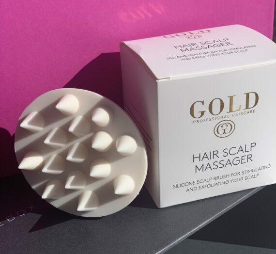 Gold hair scalp massager