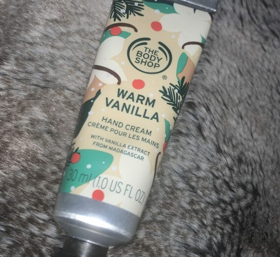The Body Shop Warm vanilla hand cream